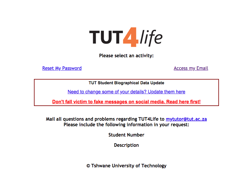 tut4life-email-login-page